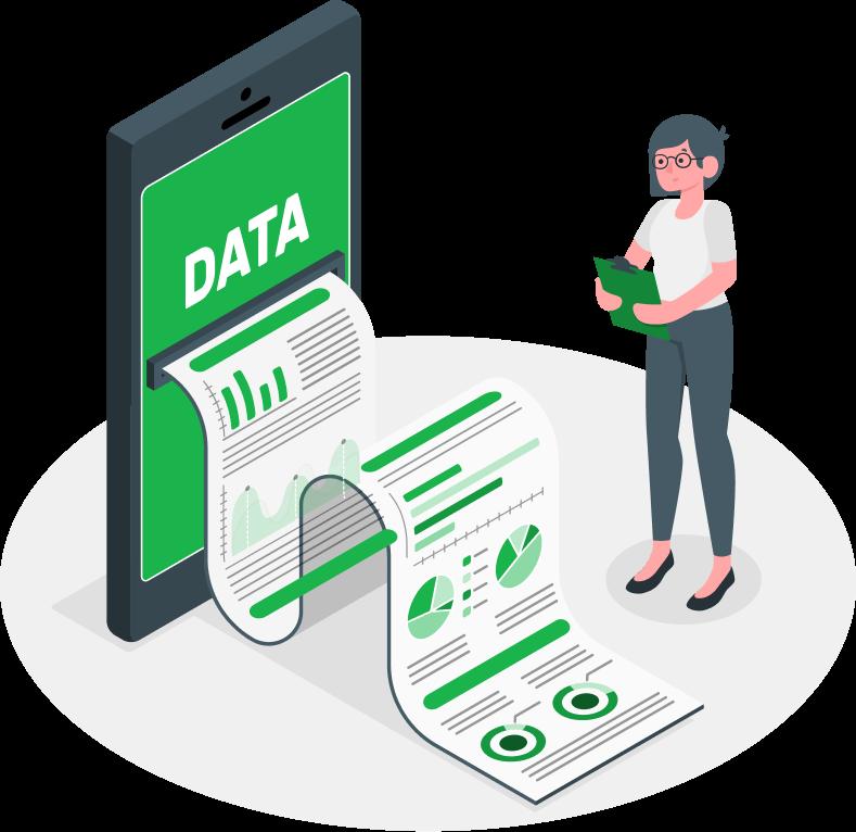 VRS, Visual Registration, timelister, personallister, kontroll på data, rapporter