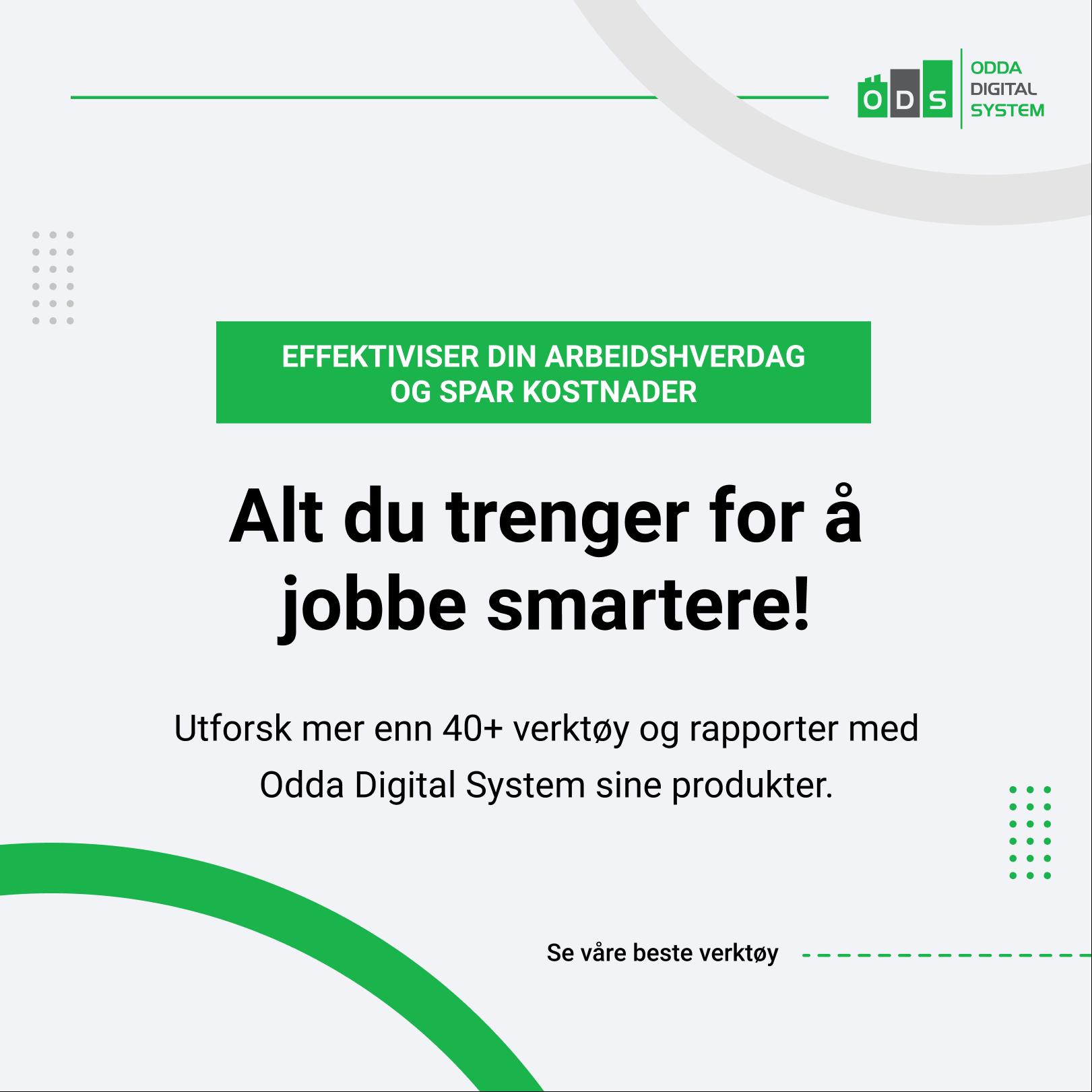 Tjener din bedrift penger - Odda Digital System